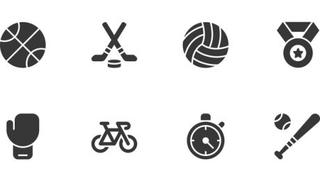 Sport icons - Regular Vector EPS File.